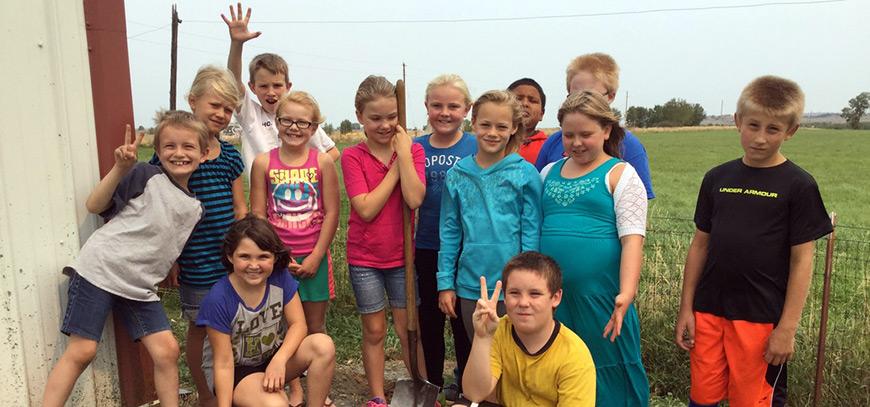 Pioneer Elementary School kids image in Billings montana