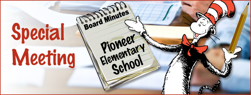 School Board Special Meeting Minutes from June 15, 2017
