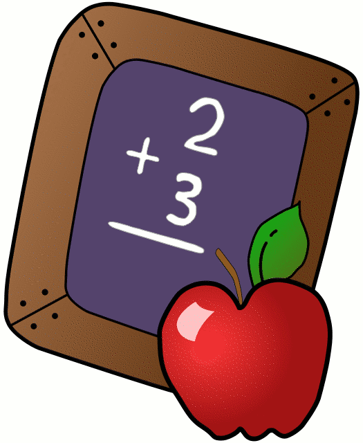Math cartoon and Apple