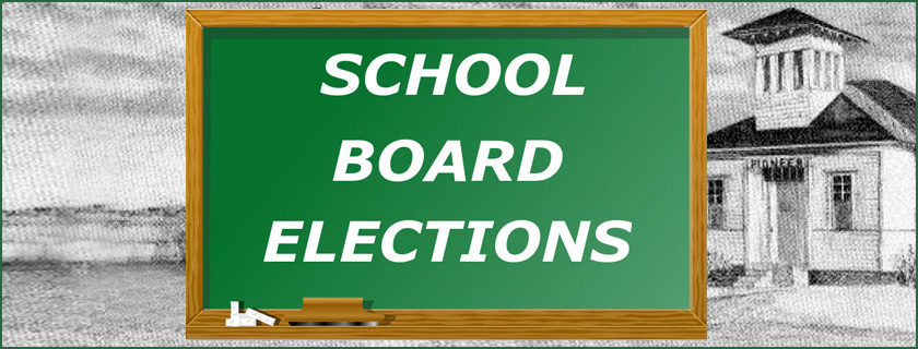 School Board Elections banner