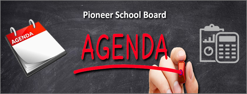 Regular Board Meeting Agenda for Monday April 9, 2018