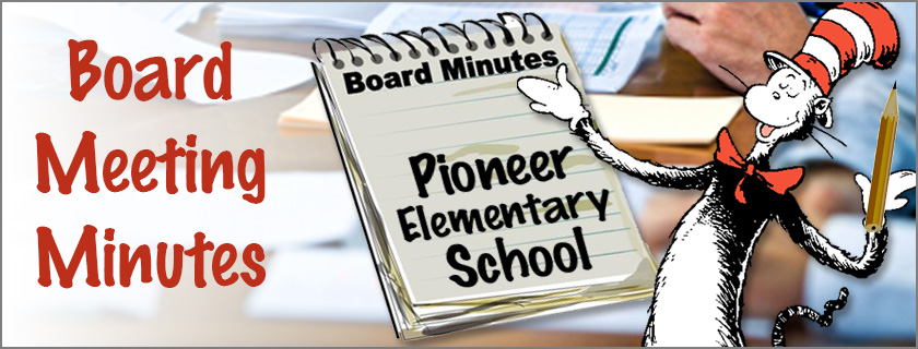 School Board Meeting Minutes Banner
