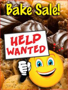 Cartoon Bake Sale Help Wanted