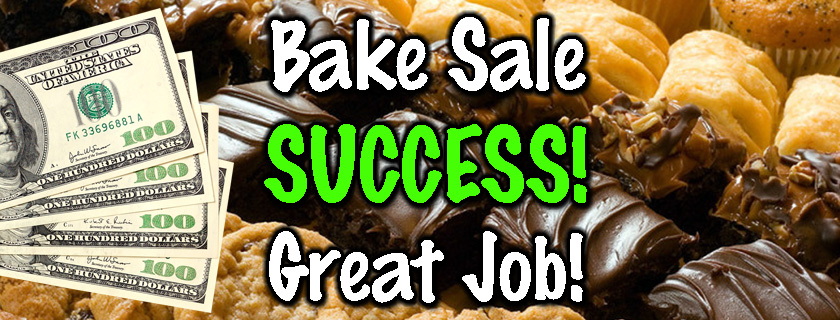 pioneer Bake Sale Success Banner for Flakesgiving 2017