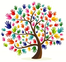 Cartoon of Tree with Hands for Leaves