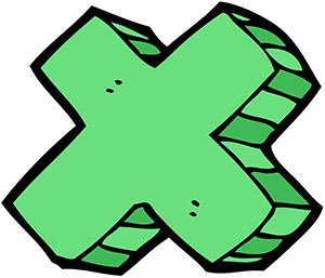 Cartoon of Multiplication Symbol