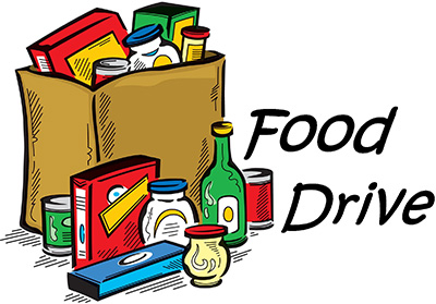 Pioneer School Food Drive Cartoon
