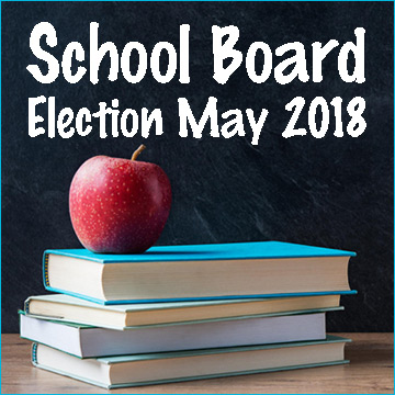 School Board Election Notice with Heading and Link to News Post