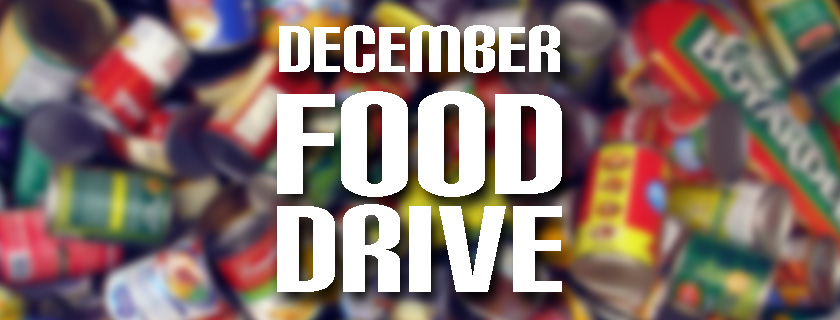 Food Drive during December