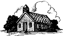 Old School House Illustration for Header