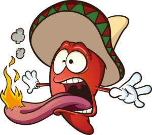 Cartoon of Hot Pepper Character