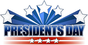 Presidents Day Banner with Stars