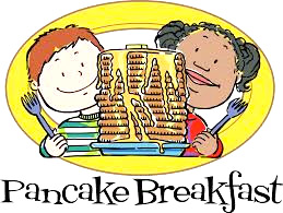 Pancake Breakfast with Cartoon Kids