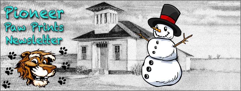 Newsletter Header with Snowman