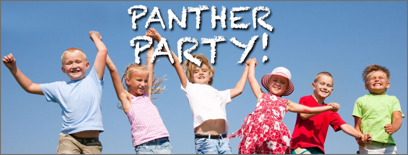 Panther Party Kids Playing and Jumping