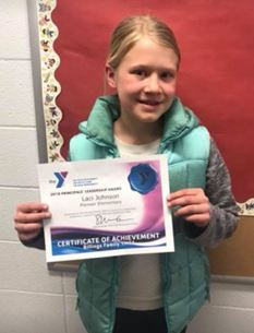 Laci winner of the YMCA Leadership Award Winner
