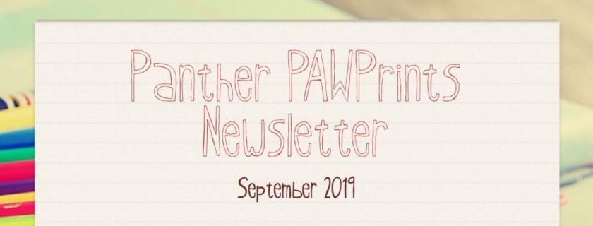 September 2019 PAWPrints Newsletter