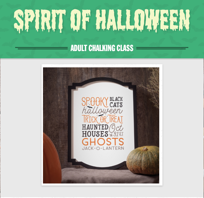 Spirit of Halloween Chalk Board