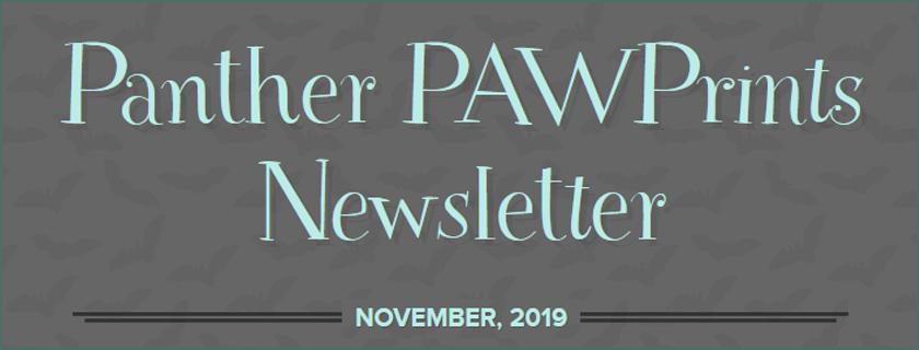 PAWPrints Newsletter November 2019