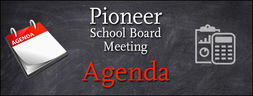 Special Board Meeting Agenda for April 27, 2020