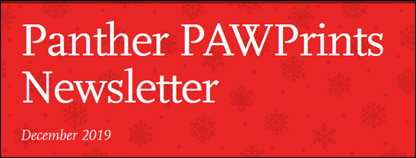 December 2019 PAWPrints Newsletter
