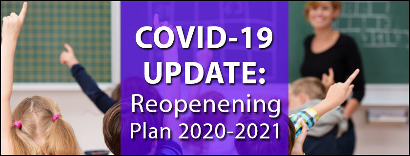 COVID 19 Update Pioneer School Reopening Plan 2020-2021