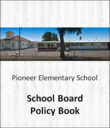Pioneer School Board policy book