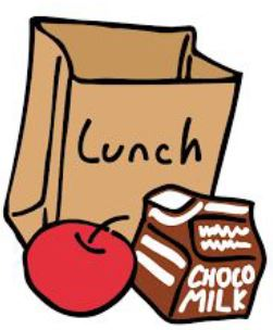 Page Graphic Lunch Bag Apple Chocolate milk