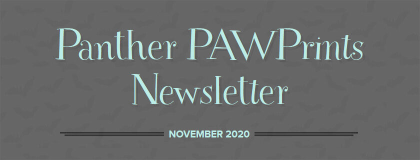 Panther PAWPrints November 2020 Newsletter