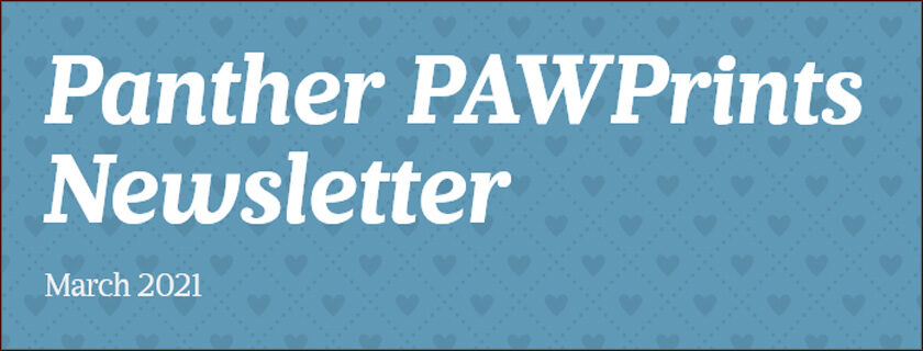 Pawprints Newsletter March 2021