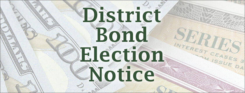 District Bond Election Pioneer School